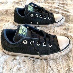 Converse All Star Low Top Black Blue Sneakers